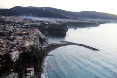 The sorrento coast. The cliff of the sorrento peninsula in italy stock images