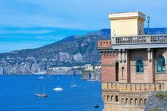 Sorrento coast, Italy. Beautiful panoramic view of Sorrento coast, Italy stock photo