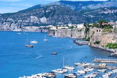 Sorrento coast, Italy. Beautiful panoramic view of Sorrento coast, Italy Royalty Free Stock Images