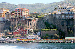 Sorrento Coast Italy. Sorrento coast in the gulf of Milan in south Italy royalty free stock image