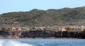 Sorrento Coast Italy. Sorrento coast in the gulf of Milan in south Italy stock images