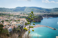 Sorrento coast, Italy. July 13: View of the Sorrento coast. View from the road to Sorrento. Sorrento is one of the most expensive resorts. beautiful view., on Royalty Free Stock Image