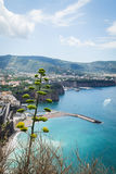 Sorrento coast, Italy. July 13: View of the Sorrento coast. View from the road to Sorrento. Sorrento is one of the most expensive resorts. beautiful view., on Stock Photography