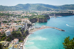 Sorrento coast, Italy. July 13: View of the Sorrento coast. View from the road to Sorrento. Sorrento is one of the most expensive resorts. beautiful view., on royalty free stock photo