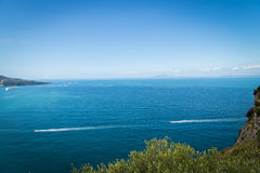 Sorrento coast, Italy. July 13: View of the Sorrento coast. View from the road to Sorrento. Sorrento is one of the most expensive resorts. beautiful view., on Stock Image