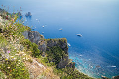 Sorrento coast, Italy. July 13: View of the Sorrento coast. View from the road to Sorrento. Sorrento is one of the most expensive resorts. beautiful view., on stock photos