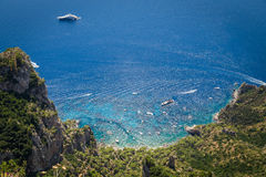 Sorrento coast, Italy. July 13: View of the Sorrento coast. View from the road to Sorrento. Sorrento is one of the most expensive resorts. beautiful view stock photos