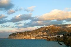 Sorrento coast, Italy. Mediterranean sea cost at Sorrento, Italy Stock Photo