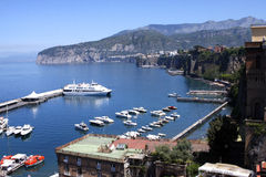 Sorrento Coast Italy. Sorrento in the Sorrentine Peninsula in Southern Italy in the Bay of Naples stock image