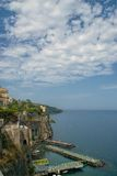 Sorrento coast, Italy. View of Sorrento Coast on Naples Bay, Italy Royalty Free Stock Photo