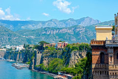 Sorrento coast, south of Italy. Panoramic view of Sorrento coast, Italy Royalty Free Stock Image