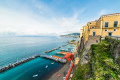Sorrento coast on a sunny day. Campania, Italy stock photos