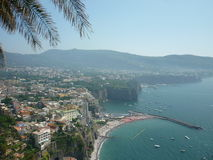 Sorrento coast. The view from a cliff overlooking the coast of Sorrento royalty free stock image