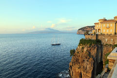 Sorrento coast view, Naples. Italy Stock Photos