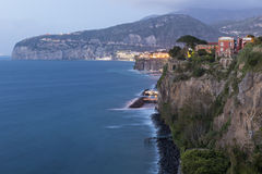 Sorrento Coastline. At night - Italy Stock Image