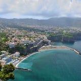 Sorrento - costa de Sorrento Imagenes de archivo