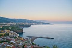 Sorrento at dawn. A view of Sorrento at dawn from Punta Scutolo Stock Image