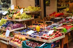 Sorrento Fruit Stand stock image