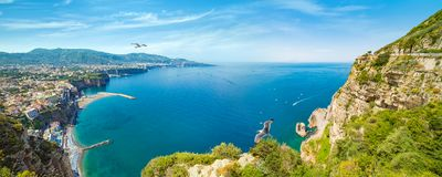 Sorrento and Gulf of Naples, Italy royalty free stock images