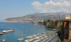 Sorrento. The habour at sorrento in Italy Royalty Free Stock Photography
