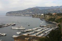 Sorrento Harbor. Sorrento panoramic view of bay. Italy Royalty Free Stock Photo