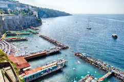 Sorrento. Harbour and Coastline, Italy royalty free stock photos