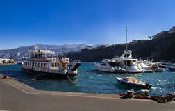 Sorrento Harbour Italy. Several boats in Sorrento harbour, Italy stock image