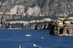 Sorrento high cliff Royalty Free Stock Photography