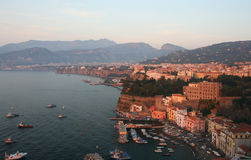 Sorrento, Italy. Sorrento in southern Italy in the late afternoon royalty free stock photography