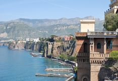 Sorrento, Italy. Beautiful view on Sorrento coast, Italy Royalty Free Stock Photos