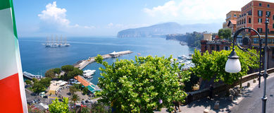 Sorrento Italy. Sorrento looking down to Bay of Naples Royalty Free Stock Photo