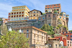 Sorrento,Italy. Historic buildings at port of Sorrento,Italy Stock Photos
