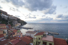 Sorrento, Italy. Sorrento coast in evening royalty free stock photos