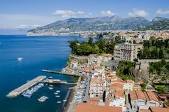 Sorrento, Italy. View at Sorrento at Amalfi coast in Italy Stock Photo