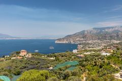 Aerial view of Sorrento and the Bay of Naples. Sorrento. Italy. Aerial view of Sorrento and the Bay of Naples stock photos