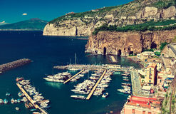 Sorrento. Italy. Italy , Amalfi coast ,Sorrento place ,cliff and beach stock photos