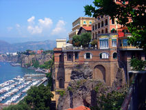 Sorrento Italy. Buildings and Sea in Sorrento Italy Royalty Free Stock Image
