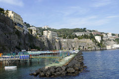 Sorrento, italy. Sorrento, city in mediterranean coast of italy Stock Photos