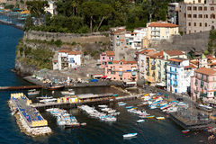 Sorrento Italy Fishing Harbor Stock Photography