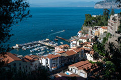 Sorrento Italy Fishing Harbor. The fishing harbor of Sorrento Italy royalty free stock photography