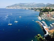 Sorrento, Italy. Gorgeous view overlooking Marina Grande in Sorrento Stock Photo