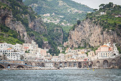 Sorrento, Italy. July 15: View of the town of Sorrento.View of Marina Grande, Sorrento. Sorrento is one of the towns of the Amalfi Coast,expensive and most Stock Photo