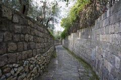 Sorrento (Italy) Nature trail to Reggina Giovanna bay Royalty Free Stock Image