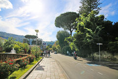 SORRENTO, ITALY - OCTOBER 9, 2016: street view in Sorrento, Italy Royalty Free Stock Photography