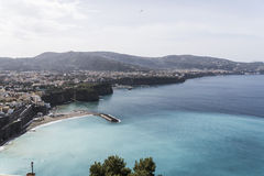 Sorrento - Italy. Panoramic view of Sorrento Coast stock photography