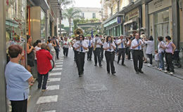 Sorrento Italy. Sorrento, Italy when school is out for summer vacation there is a parade thru town Royalty Free Stock Photos