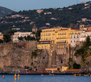Sorrento Italy. Seaside view of Cliffside buildings in Sorrento Italy Stock Photography