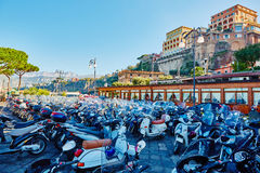 Sorrento, Italy. Sorrento is one of the most. Sorrento, Italy - November 7, 2013: Sorrento is one of the towns of the Amalfi Coast,expensive and most beautiful Stock Photo