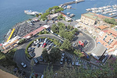 Sorrento, Italy. Sorrento is a town overlooking the Bay of Naples in Southern Italy. The Sorrentine Peninsula has views of Naples, Vesuvius and the Isle of Capri stock photo