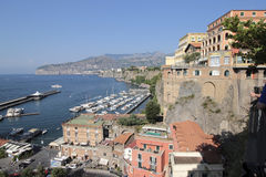 Sorrento, Italy. Sorrento is a town overlooking the Bay of Naples in Southern Italy. The Sorrentine Peninsula has views of Naples, Vesuvius and the Isle of Capri royalty free stock images